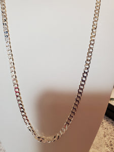 Sterling Silver 20 Inch Chain Beveled Curb 2 MM