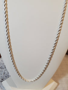 Sterling Silver 22 Inch French Rope Chain 4 MM
