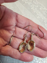 Load image into Gallery viewer, Custom Wire Wrapped Lemon Citrine Facted Earrings Sterling Silver
