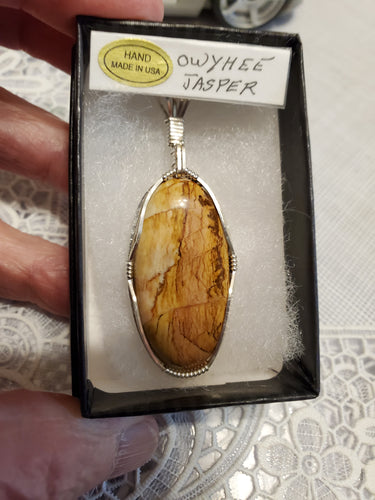 Custom Wire Wrapped Owyhee Picture Jasper Necklace/Pendant Sterling Silver