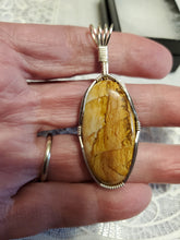 Load image into Gallery viewer, Custom Wire Wrapped Owyhee Picture Jasper Necklace/Pendant Sterling Silver