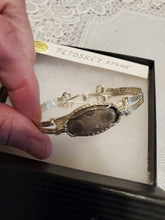 Load image into Gallery viewer, Custom Wire Wrapped Petoskey Stone Bracelet 6 3/4 MIchigan State Stone