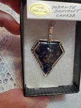 Load image into Gallery viewer, Custom Wire Wrapped Sodalite Necklace/Pendant Sterling Silver