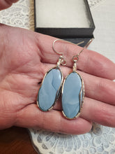 Load image into Gallery viewer, Custom Wire Wrapped Owyhee Opal Earrings Sterling Silver Wire