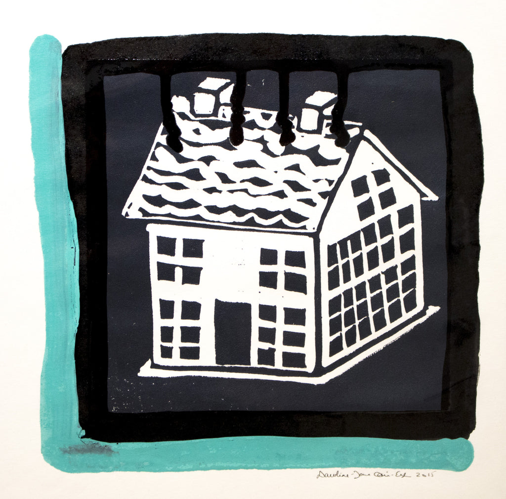 Hand Colored Lino Prints