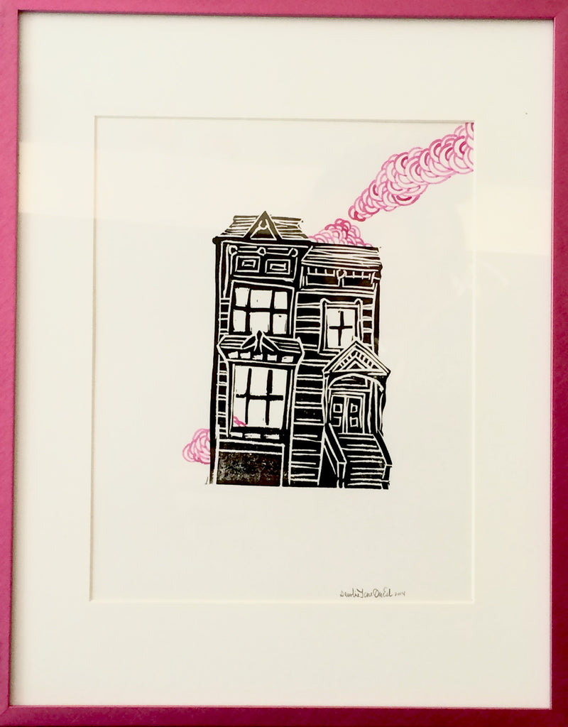 Untitled House Study (pink) - Art Attack SF