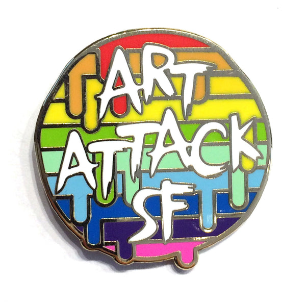 Art Attack SF Rainbow Pin - Art Attack SF