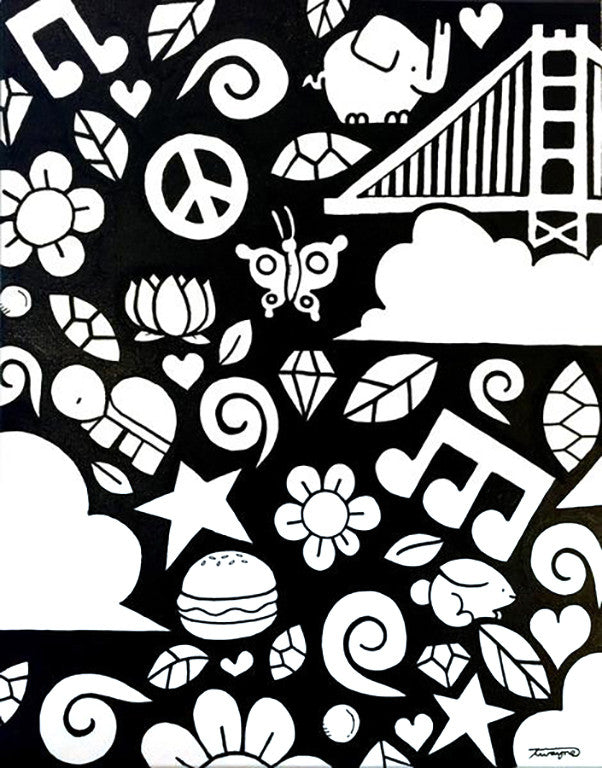 Doodle Butterfly Bridge - Art Attack SF