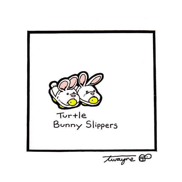 Turtle Bunny Slippers