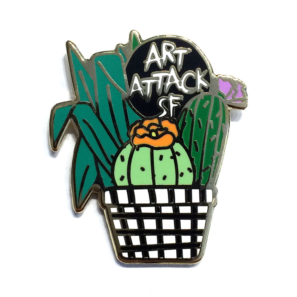 Art Attack SF Cactus Pin - Art Attack SF