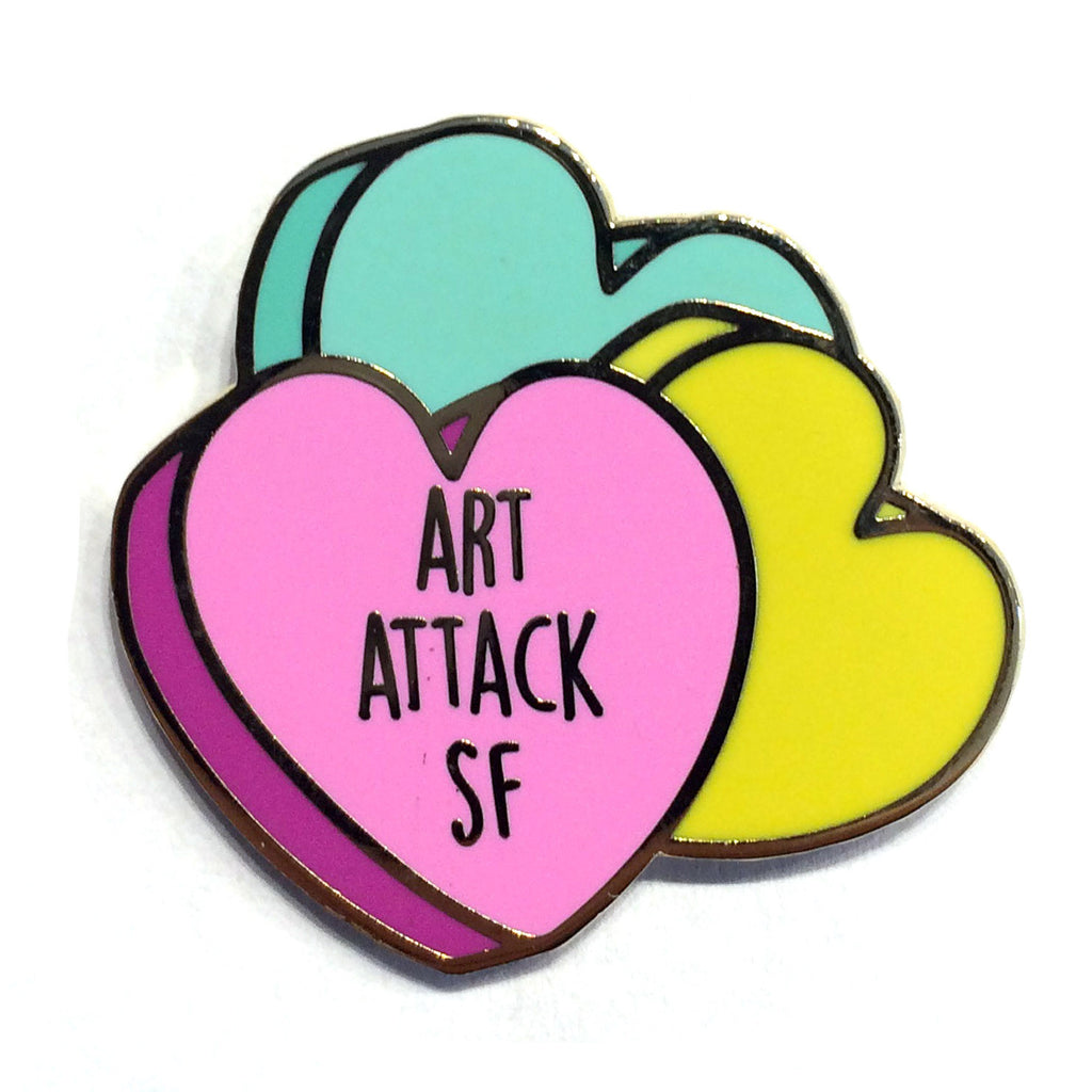 Art Attack SF Heart Pin