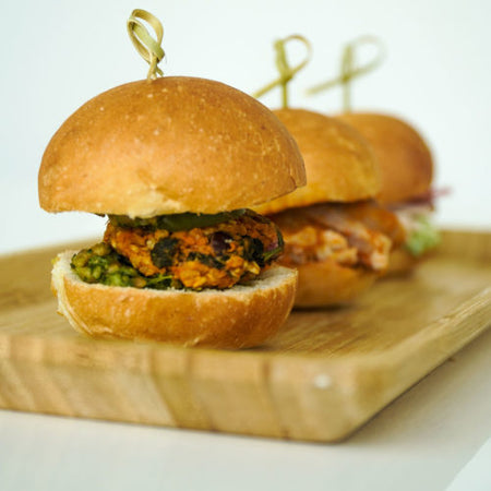 Sweet Potato & Black Bean Sliders