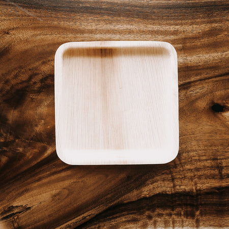 Palm Leaf Square 8'' Plates