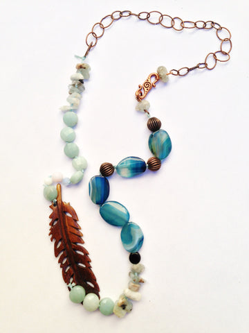 Bohemian Dream, hand knotted, gemstones