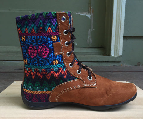 Bright colors, high boots, Handmade