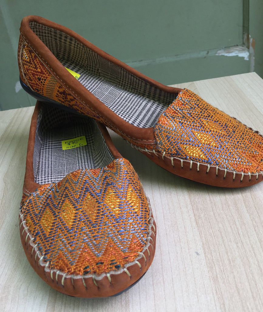 Yellow mustard NR, handmade, handwoven loafers, Moccassins - Milena's Corner