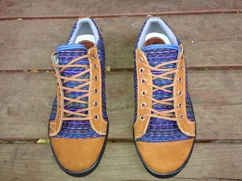 Guatemalan textile handmade tied sneakers