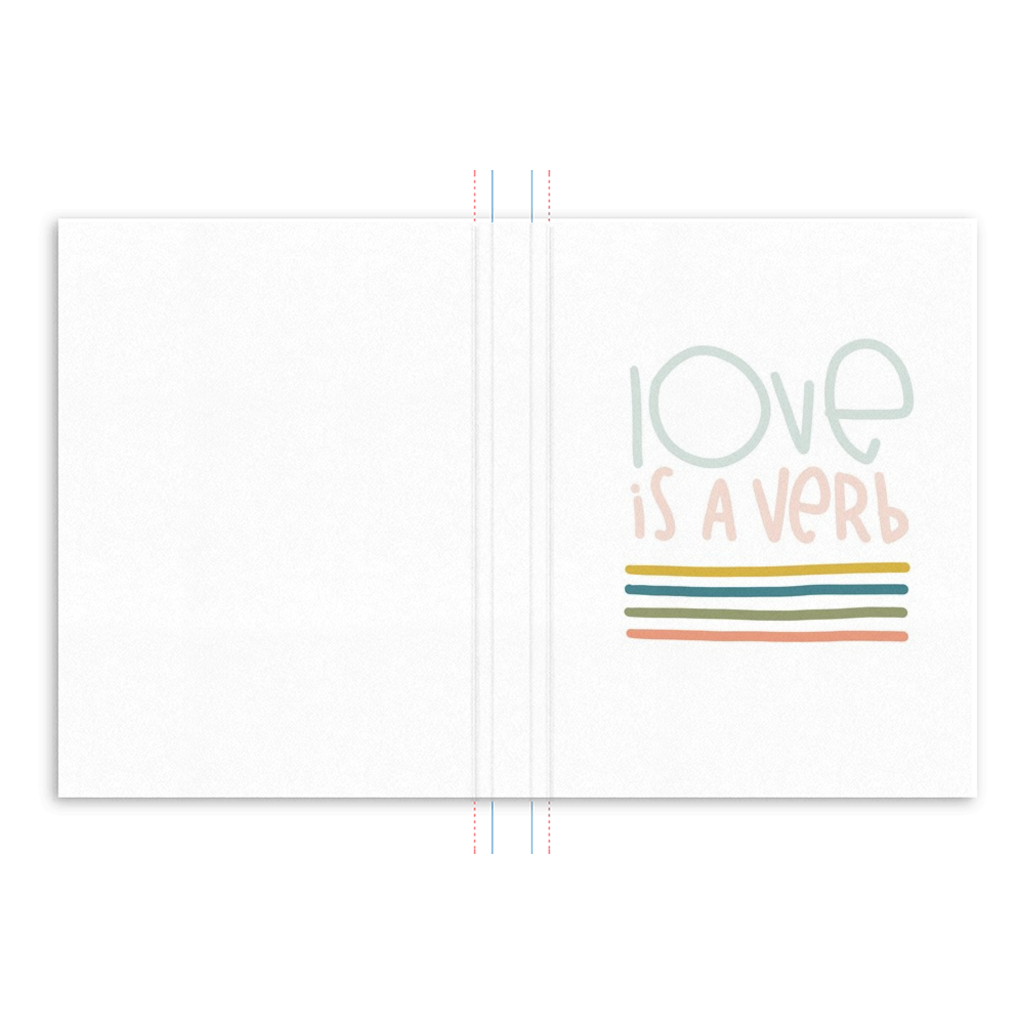 Love is a Verb Hardcover Journal