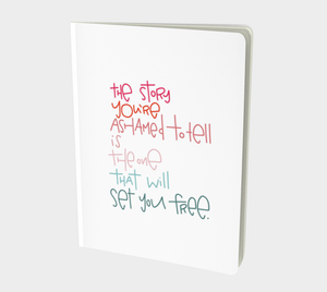 Set You Free Large 7x10 Notebook