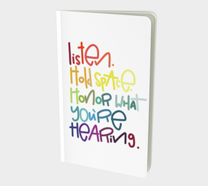 Listen Small 5x8 Notebook