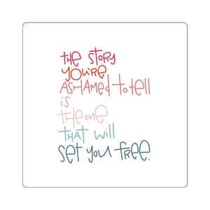 Set You Free Square Stickers