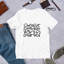Load image into Gallery viewer, Consent Culture Short-Sleeve Adult T-Shirt