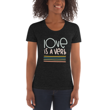Load image into Gallery viewer, Love is a Verb Slim Cut Crew Neck T-shirt