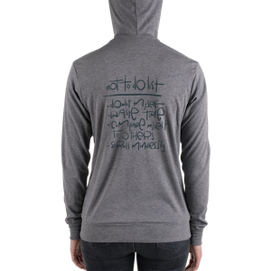 Not To Do List Adult zip hoodie