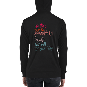 Set You Free Adult zip hoodie