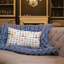 "Load image into Gallery viewer, ""Rainbows"" Premium Throw Pillow (in three different sizes!)"