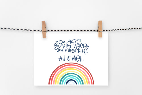 All is Well | Printable Art Print | Digital Download