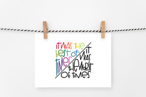 Best/Worst Times | Printable Art Print | Digital Download