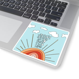 Shine Your Light Square Stickers