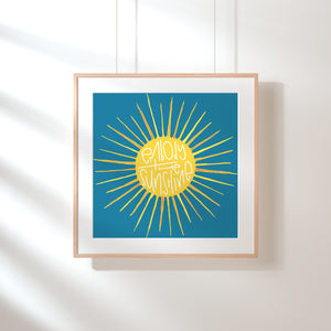 """Embody the Sunshine"" 5x5 Art Print"