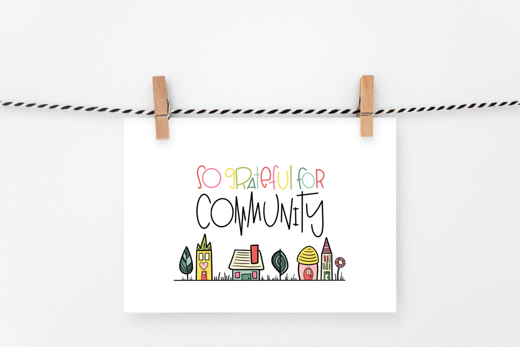 Grateful for Community | Printable Art Print | Digital Download