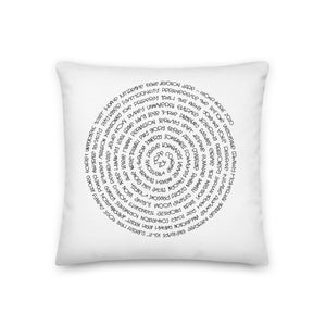 (Y)oUR WoRDs Premium Throw Pillow