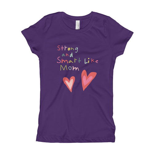 Youth Slim Fit T-shirt | Strong and Smart Like Mom