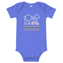 Load image into Gallery viewer, Love is a Verb Baby Onesie