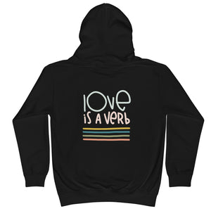 Love is a Verb Kids Hoodie