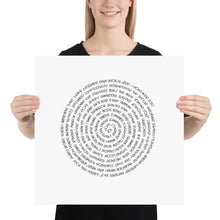 Load image into Gallery viewer, (Y)oUR WoRDs 2020 Fine Art Prints - black on white