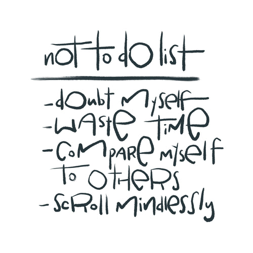 NOT To Do List Sticker (free US shipping)