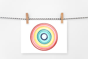 Rainbow Ripples | Printable Art Print | Digital Download