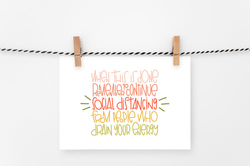 Social Distancing | Printable Art Print | Digital Download