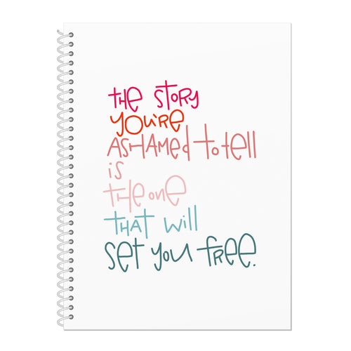 Set You Free Spiral Sketch or Drawing Notebook