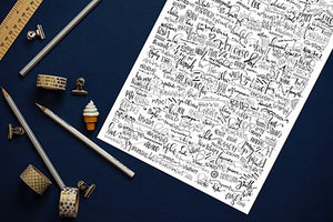 2018 Words of the Year Print