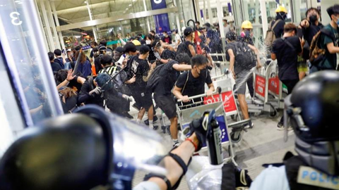 Figure 8: Occupation of Hong Kong Airport by Protesters