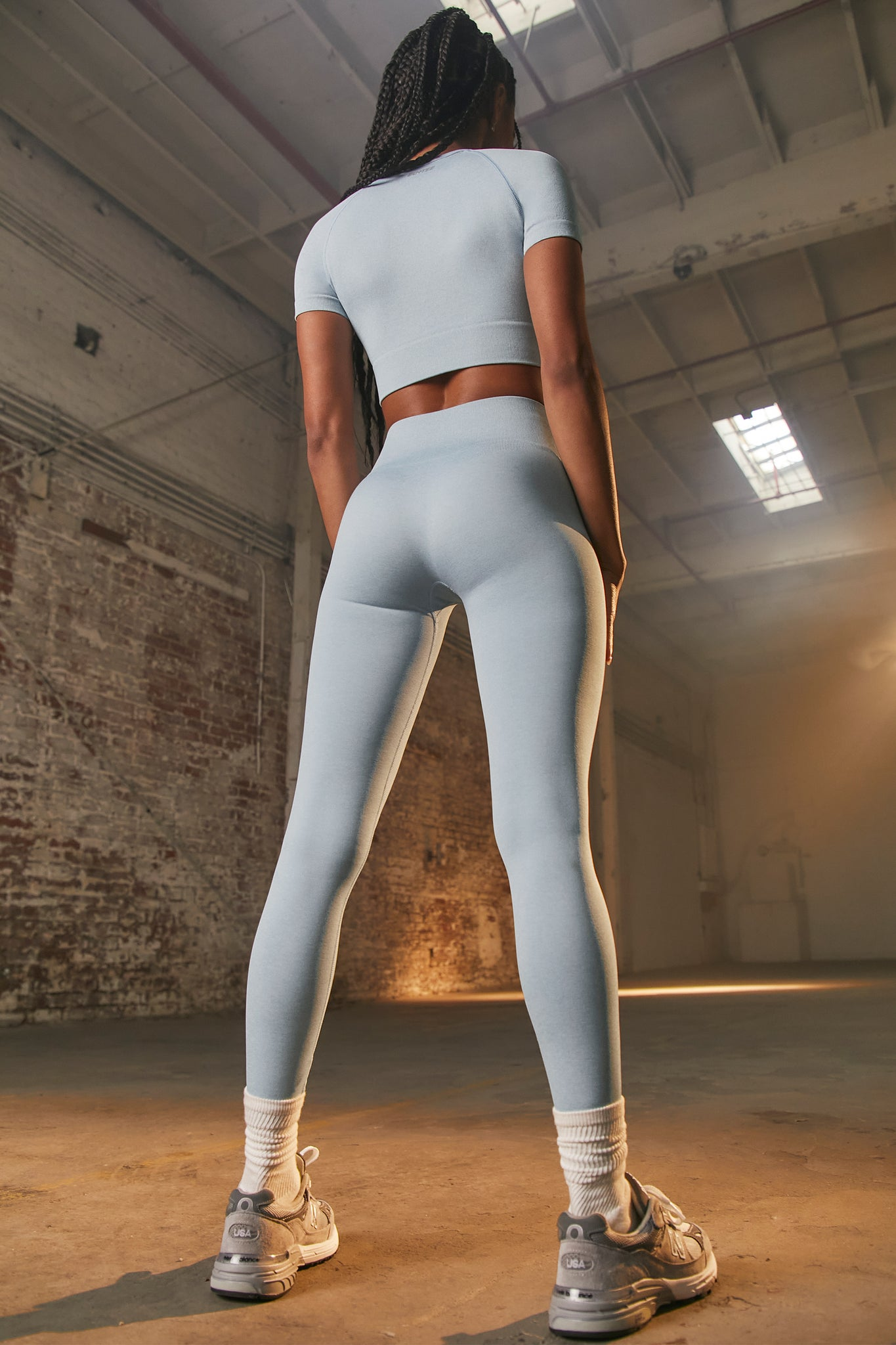Unstoppable - Leggings in Sky Blue