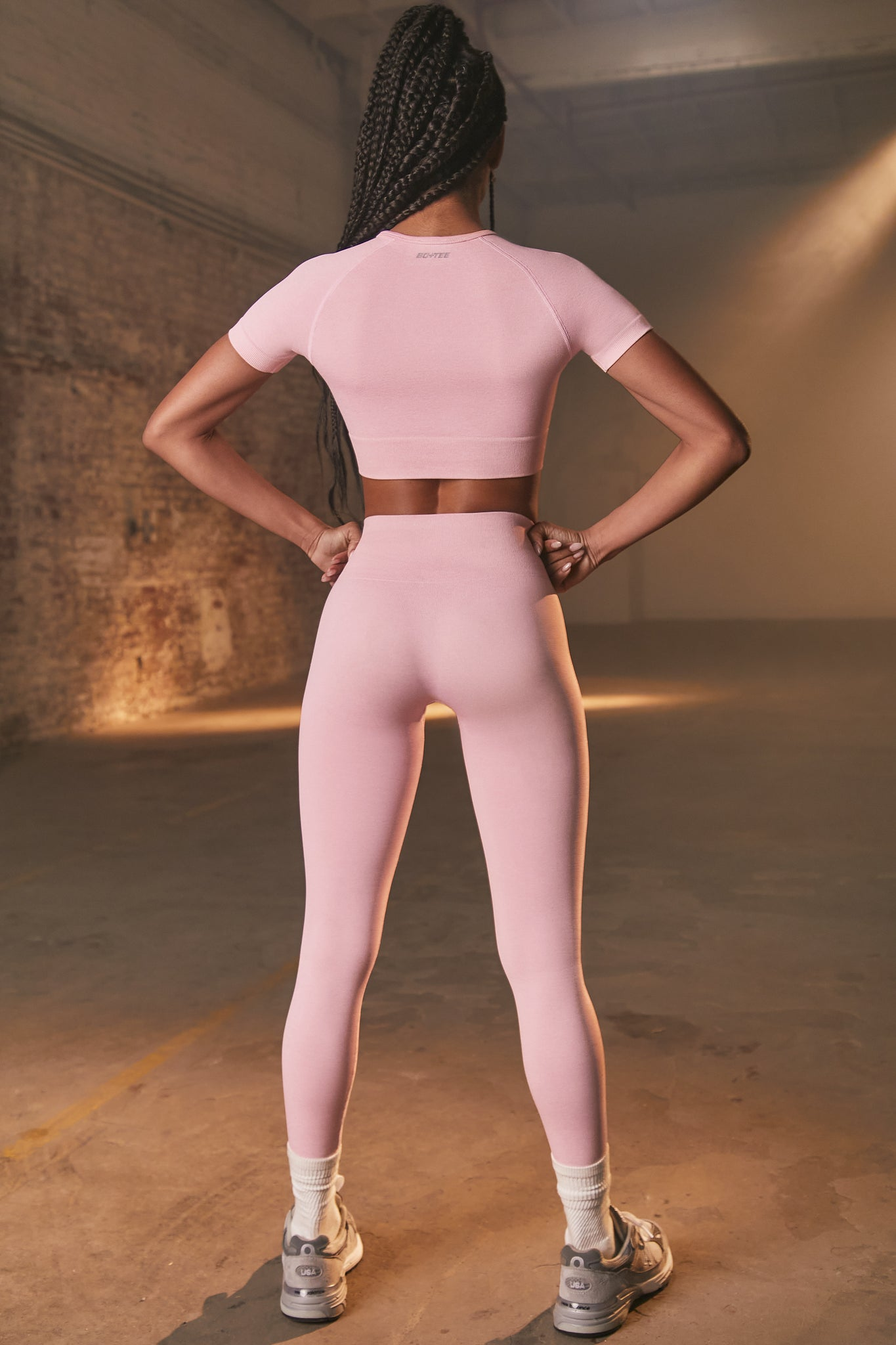 Determined - Crop Top in  Mauve Pink