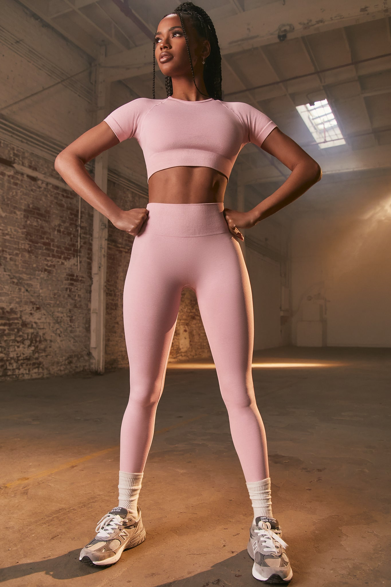 Unstoppable - Leggings in Mauve Pink