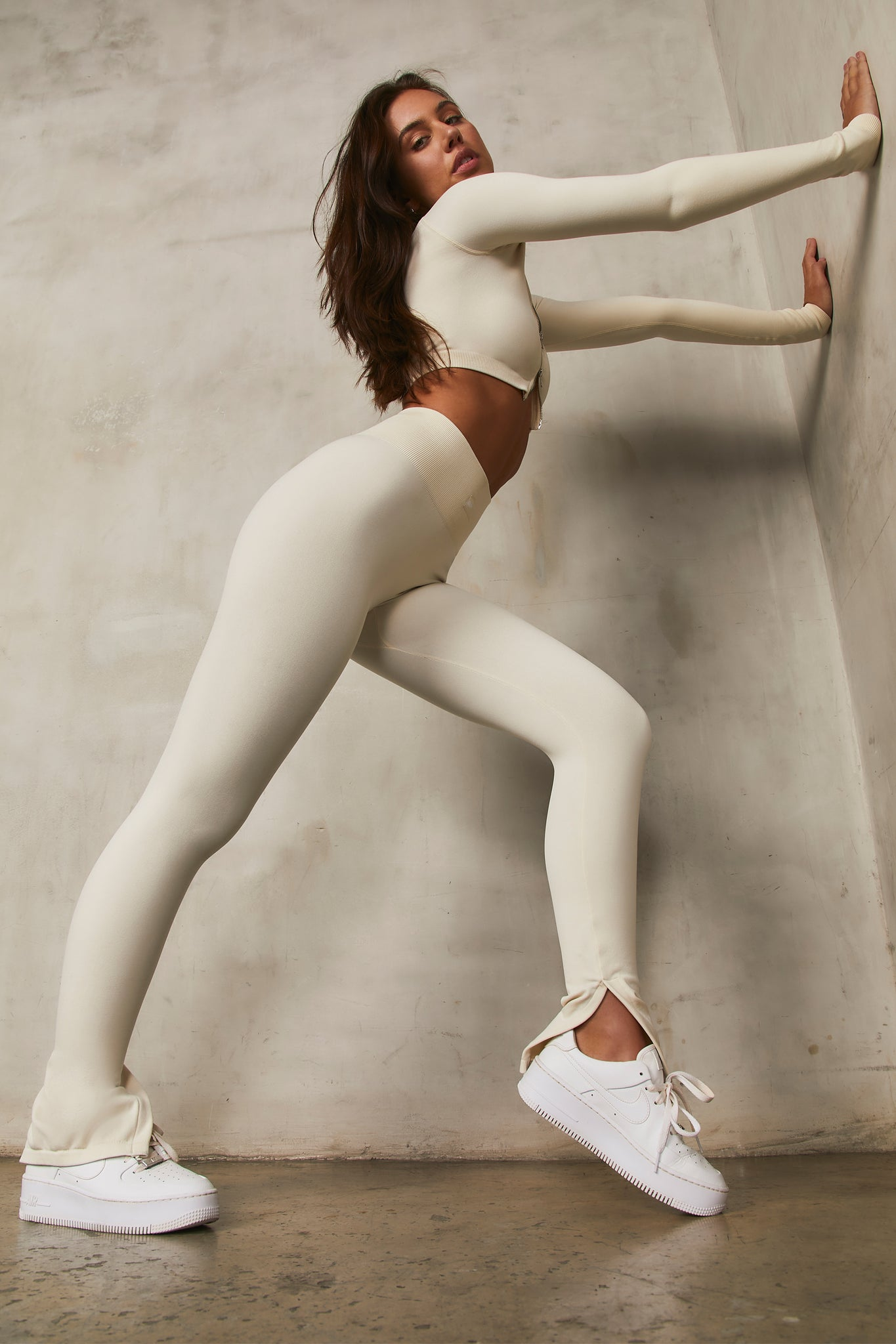 Variation Petite - Leggings in Cream